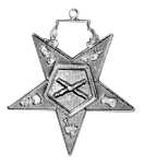 Marshal Order of the Eastern Star Masonic Officer Jewel - [Gold][2''] - RES-85
