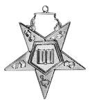 Chaplain Order of the Eastern Star Masonic Officer Jewel - [Gold][2''] - RES-89