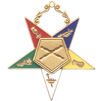 Marshal Order of the Eastern Star Masonic Officer Jewel - [Gold][2 1/2''] - RES-8