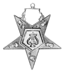Organist Order of the Eastern Star Masonic Officer Jewel - [Gold][2''] - RES-91