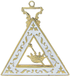 Esther Order of the Eastern Star Masonic Officer Jewel - [Gold][2''] - RES-93