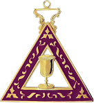 Electra Order of the Eastern Star Masonic Officer Jewel - [Gold][2''] - RES-94