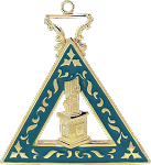 Martha Order of the Eastern Star Masonic Officer Jewel - [Gold][2''] - RES-95