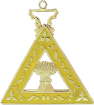 Ruth Order of the Eastern Star Masonic Officer Jewel - [Gold][2''] - RES-96