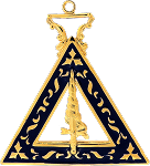 Adah Order of the Eastern Star Masonic Officer Jewel - [Gold][2''] - RES-97