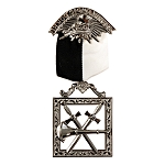 Warder Knights Templar Masonic Officer Breast Jewel - RKT-14