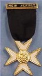 Malta Knights Templar Masonic Officer Breast Jewel - [Gold] - RKT-21