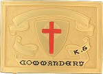 Commandery Knights Templar Masonic Belt Plate  - RKT-32