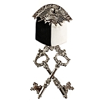 Treasurer Knights Templar Masonic Officer Breast Jewel - RKT-4