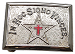 Texas Knights Templar Masonic Belt Plate - RKT-40