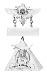 Past Potentate Shriner Masonic Officer Breast Jewel - [Gold] - RSG-18