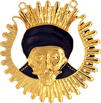 Grotto Shriner Masonic Officer Jewel - [Gold] - RSG-20