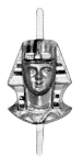 Colored Headress and Face Sphinx Head Shriner Masonic Jewel - [Color] - RSG-21