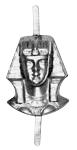 Sphinx Head Shriner Masonic Jewel - [Gold] - RSG-22