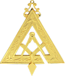 Prince Hall Grand Illustrious Master Royal & Select Masonic Officer Jewel - RSM-12-CO