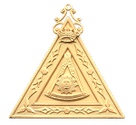 Thrice Potent Master 14th Degree Scottish Rite Officer Jewel - [Gold] - RSR-12
