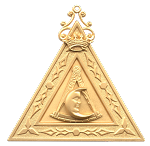 Deputy Master 14th Degree Scottish Rite Officer Jewel - [Gold] - RSR-15
