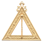 Master of Ceremonies 14th Degree Scottish Rite Officer Jewel - [Gold] - RSR-17