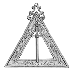 Junior Warden 14th Degree Scottish Rite Officer Jewel - [Gold] - RSR-21