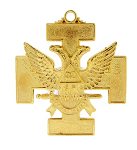 Double Headed Eagle (Wings Up) 32nd Degree Scottish Rite Breast Jewel - [Gold] - RSR-2