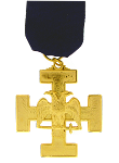 Double Headed Eagle (Wings Down) 32nd Degree Scottish Rite Breast Jewel - [Gold] - RSR-3