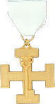 Treasurer 32nd Degree Scottish Rite Officer Jewel - [Gold] - RSR-48