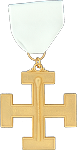 Master of Ceremonies 32nd Degree Scottish Rite Officer Jewel - [Gold] - RSR-50