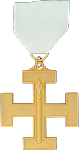 Guard 32nd Degree Scottish Rite Officer Jewel - [Gold] - RSR-54
