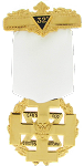 Commander In Chief 32nd Degree Scottish Rite Breast Jewel - [Gold] - RSR-7