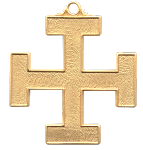 Teutonic Cross 32nd Degree Scottish Rite Pendant - [Gold] - RSR-8