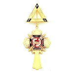 Knights Templar Masonic Breast Jewel - HOMJ117
