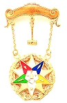 Order of the Eastern Star Masonic Breast Jewel - HOMJ2195