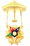 Order of the Eastern Star Masonic Breast Jewel - HOMJ6359