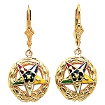 Order of the Eastern Star Masonic Earrings - MAS107E