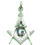 Square & Compass Masonic Pendant - MAS16113PEN