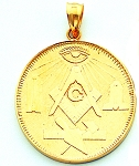 Working Tools Square & Compass Masonic Pendant - MAS5000