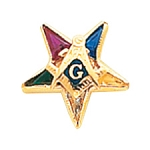 Order of the Eastern Star Masonic Tie Tac - HOM7204T