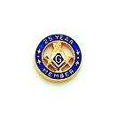 25 Year Member Square & Compass Masonic Tie Tac - HOM7236T