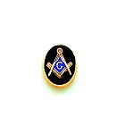 Oval Square & Compass Masonic Tie Tac - MST910T