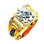 Blue Lodge Masonic Ring - HOM538BL