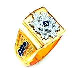 Blue Lodge Masonic Ring - HOM614BL