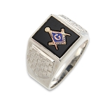 Blue Lodge Masonic Ring - MASCJ1101BL