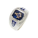 Blue Lodge Masonic Ring - MASCJ1140SBL