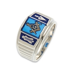 Blue Lodge Masonic Ring - MASCJ1143BL