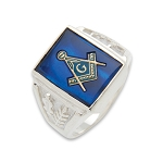 Blue Lodge Masonic Ring - MASCJ1166BL