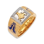 Blue Lodge Masonic Ring - MASCJ355BL