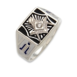 Blue Lodge Masonic Ring - MASCJ595BL