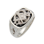 Blue Lodge Masonic Ring - MASCJ647BL