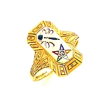 Order of the Eastern Star Masonic Ring - GLC109PM
