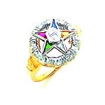 Order of the Eastern Star Masonic Ring - GLC213ES